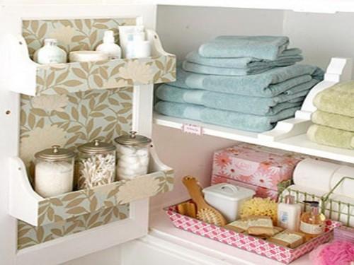 organizar gabinetes baño pequeño