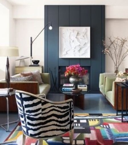Salas decoradas con estampados de cebra for Cortinas con estampados modernos