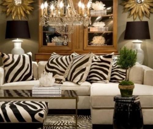 sofa cojines cebra