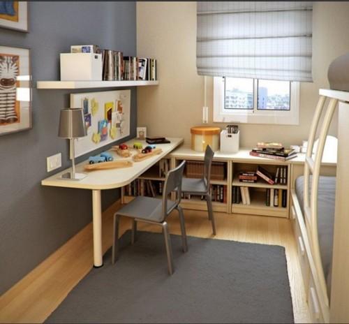 zona estudio dormitorio compartido