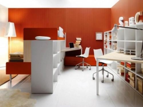 zona estudio habitación compartida