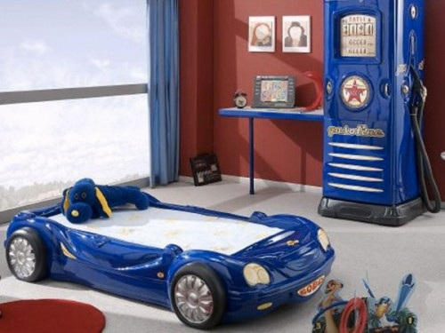 Dormitorios con camas coche para ni os - Coches cama para ninos ...