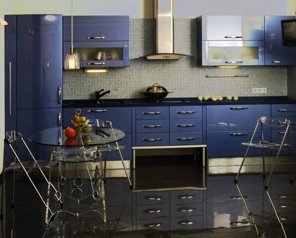 Fotos cocinas en color azul - Cocinas azul tierra ...
