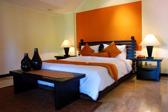 Estupendas rec maras color naranja for Dormitorio naranja