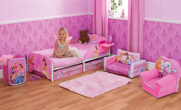 Dormitorios infantiles de princesas disney imagui for Dormitorio rosa