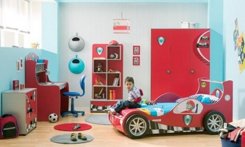 Dormitorios con camas coche para ni os - Camas coches infantiles ...