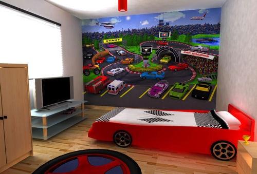 Dormitorios con camas coche para ni os - Dormitorios de cars ...