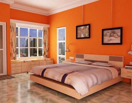 recámara-paredes-naranja