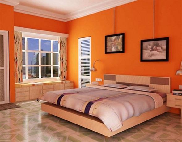 Estupendas rec maras color naranja for Colores relajantes para recamaras