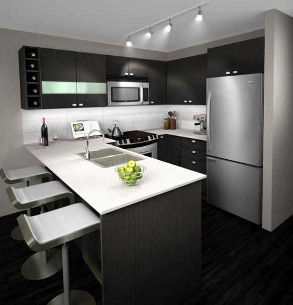 Cocinas en colores neutros for Black and grey kitchen designs