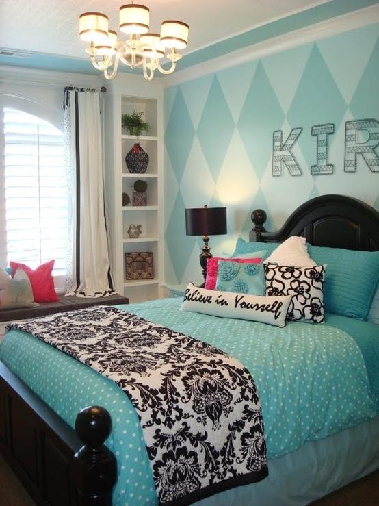 Dormitorios con color turquesa for Alfombra azul turquesa del dormitorio