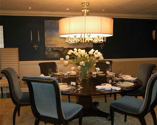 10 magn ficas fotos de comedores con mesas redondas - Lamparas para comedores modernos ...