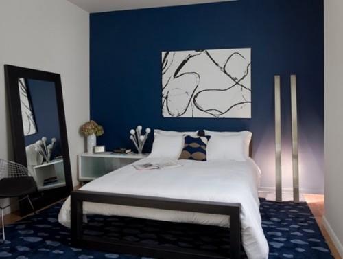 dormitorio color azul