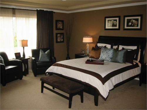 dormitorio color marrón