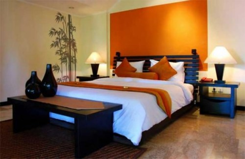 dormitorio color naranja