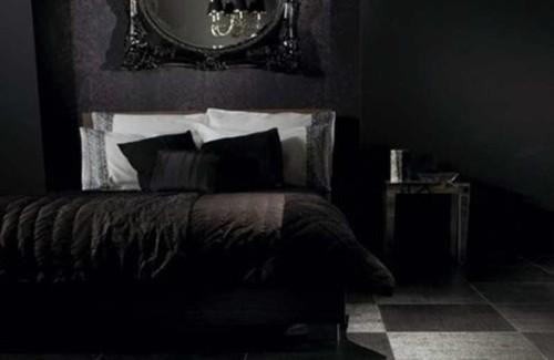 dormitorio color negro