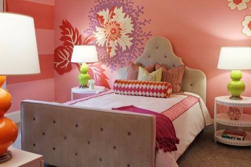 dormitorio-rosa-naranja-adolescente