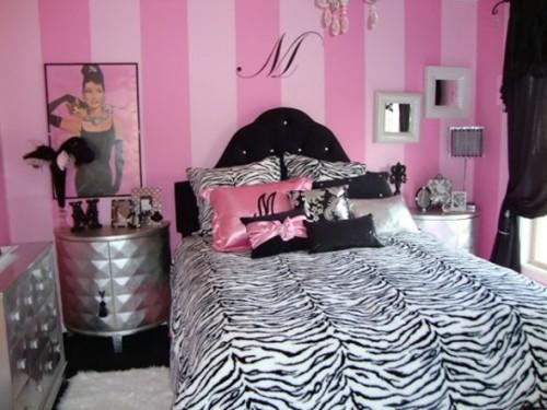 dormitorio-rosa-negro-adolescente
