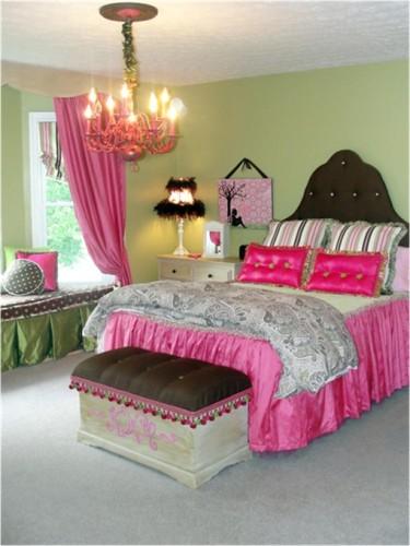dormitorio-verde-rosa-adolescente