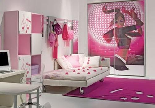13 dormitorios rosa para adolescentes for Habitaciones para ninas adolescentes modernas