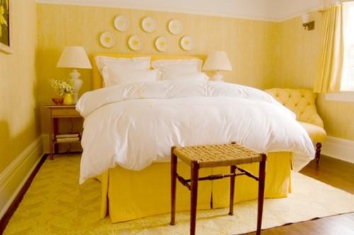 recamara color amarillo