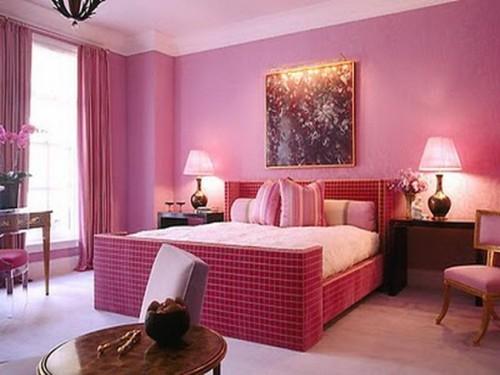recamara color rosa