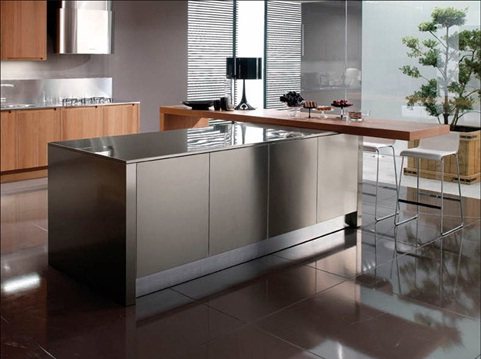 Hermosas cocinas en acero inoxidable Articulos de cocina de acero inoxidable