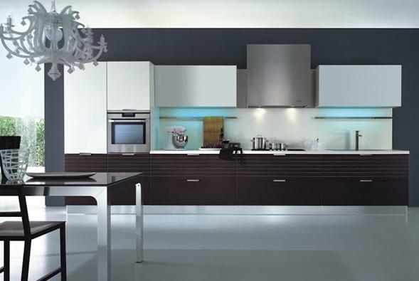 Cocinas lineales modernas for Cocinas lineales de cuatro metros