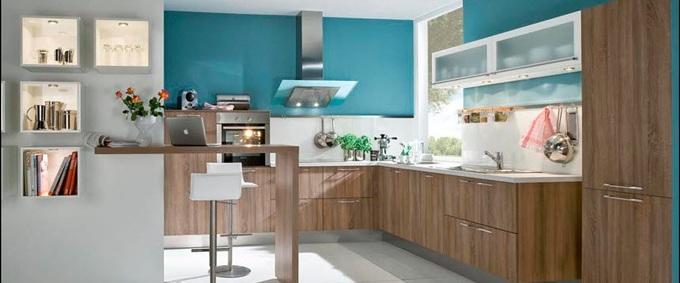 Cocinas con muebles laminados