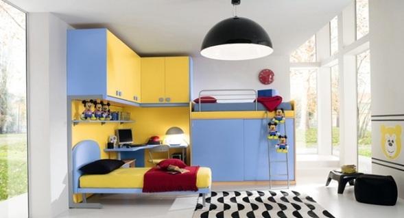 Fotos de cuartos para ni os varones for Diseno de libreros para espacios pequenos