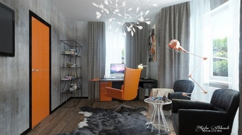 diseño-oficina-color-naranja