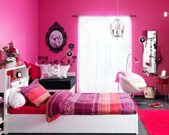 Dormitorios en color fucsia - Colores de habitaciones juveniles ...