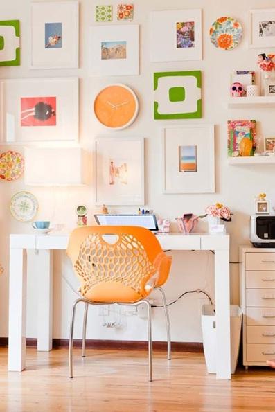 Oficinas decoradas color naranja for Accesorios decorativos para oficina