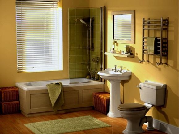 16 magn ficos ba os en color amarillo for Yellow and green bathroom ideas