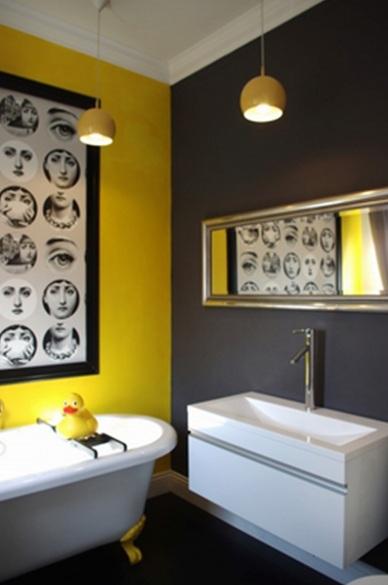 Decoracion De Baño Gris:16 Magníficos Baños en Color Amarillo