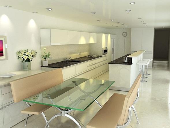 Iluminacion de cocinas ideas y fotos - Iluminacion para cocinas modernas ...