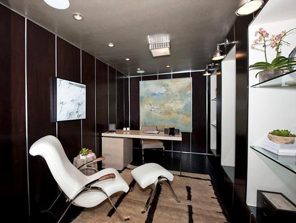8 magnificas oficinas con paredes en marr n chocolate - Pared marron chocolate ...