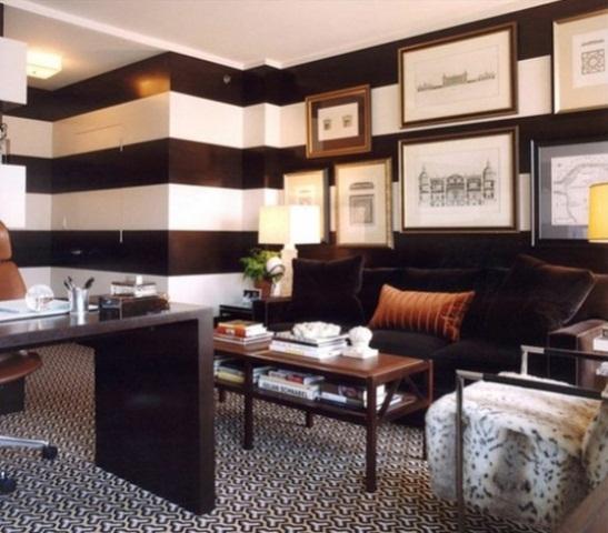 8 magnificas oficinas con paredes en marr n chocolate for Design office y z