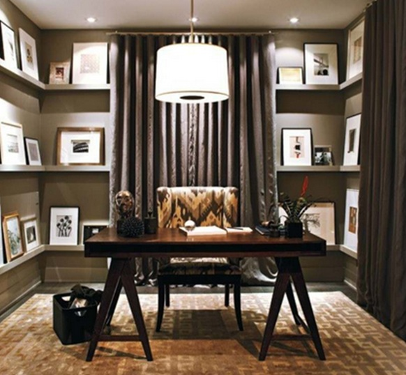 Home Design Business Ideas: 8 Magnificas Oficinas Con Paredes En Marrón Chocolate