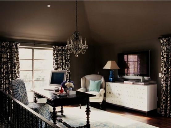 8 magnificas oficinas con paredes en marr n chocolate - Cortinas marron chocolate ...
