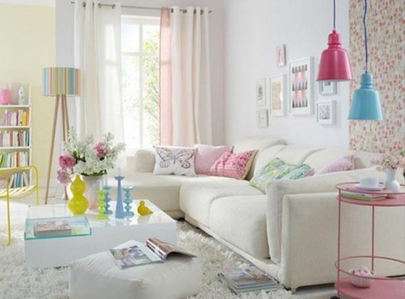 10 salas en colores pastel - Pastel living room colors ...