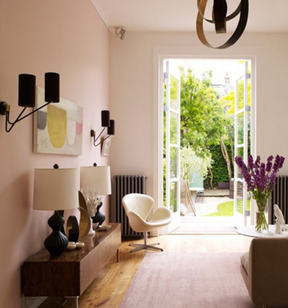 10 salas en colores pastel for Colores de sala