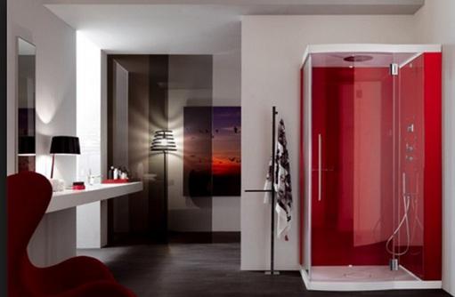 Baño De Color Rojo Fuego:Más diseños de baños en Color Rojo Modernos: