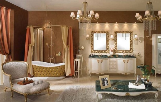 Baños Diseno Clasico:Como elementos decorativos las flores, cuadros en las paredes con