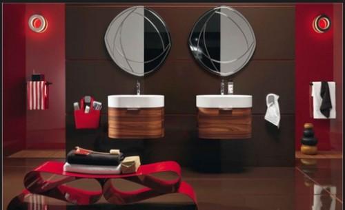 baño-moderno-rojo-marron