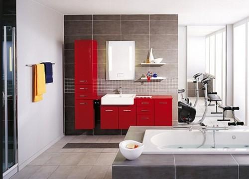 baño-muebles-rojo-moderno