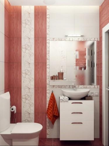 baño-pequeño-moderno-rojo