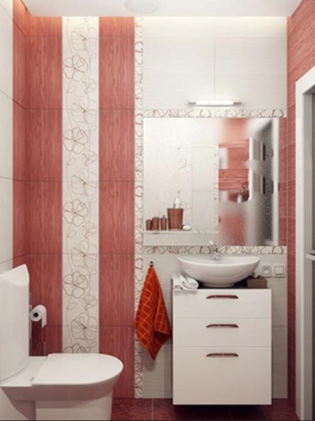 Decorar tu ba o con rojo fotos e ideas - Como decorar un bano pequeno moderno ...