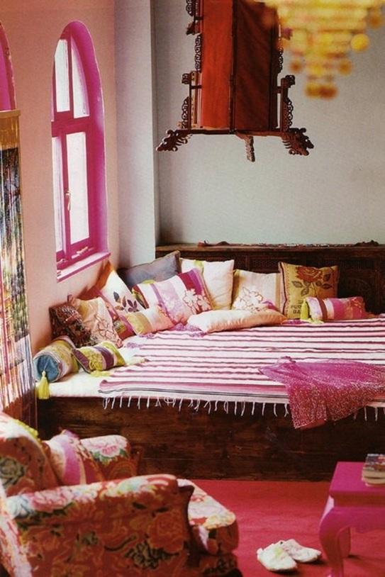 10 fascinantes salas estilo bohemio for Plato de decoracion marroqui salon 2014