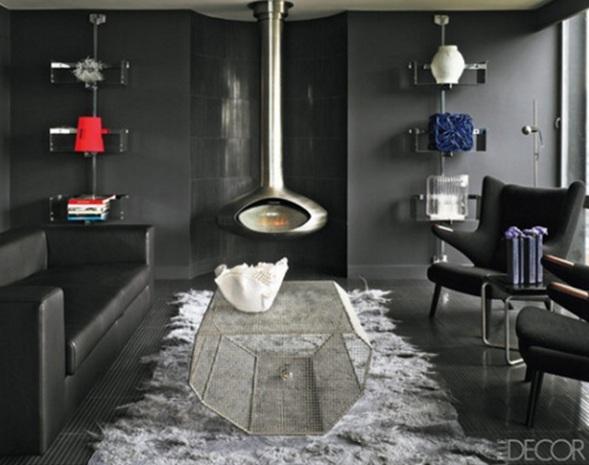 15 hermosas salas con chimeneas